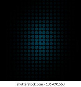 Dark BLUE vector background with circles. Abstract illustration with colorful spots in nature style. Pattern for booklets, leaflets.