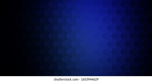 Dark BLUE vector background with lines. Modern abstract illustration with colorful lines. Pattern for ads, commercials.