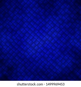 Dark BLUE vector background in polygonal style. Rectangles with colorful gradient on abstract background. Pattern for websites, landing pages.