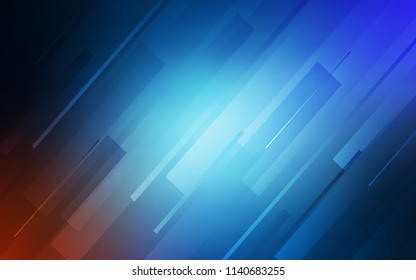 Dark BLUE vector background with straight lines. Blurred decorative design in simple style with lines. Pattern for ads, posters, banners.