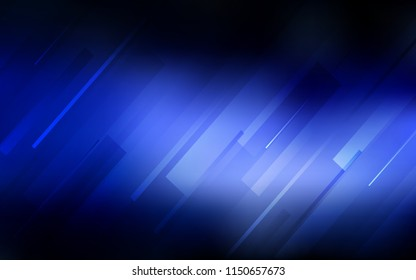 Dark BLUE vector background with straight lines. Blurred decorative design in simple style with lines. Best design for your ad, poster, banner.