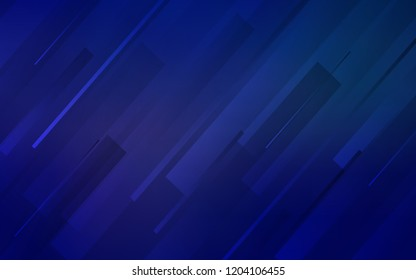 Dark BLUE vector background with straight lines. Lines on blurred abstract background with gradient. The pattern for ad, booklets, leaflets.