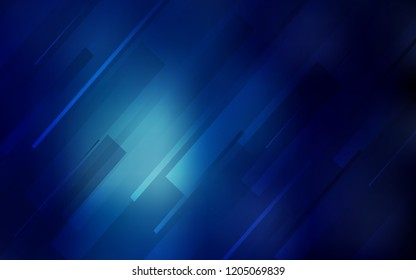 Dark BLUE vector background with straight lines. Lines on blurred abstract background with gradient. Best design for your ad, poster, banner.