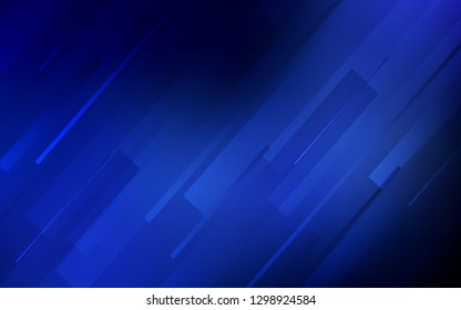 Dark BLUE vector background with straight lines. Modern geometrical abstract illustration with Lines. Pattern for ads, posters, banners.