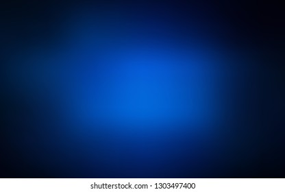 Dark BLUE vector blurred bright template. Colorful abstract illustration with gradient. The best blurred design for your business.