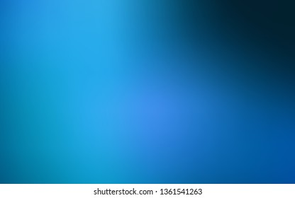 Dark BLUE vector blurred shine abstract template. Glitter abstract illustration with gradient design. Completely new design for your business.