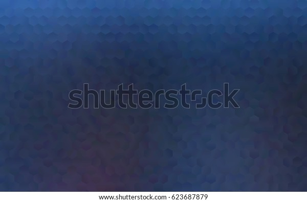 Dark blue vector blurry hexagon background design. Geometric background in Origami style with gradient.