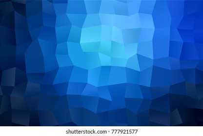 Dark BLUE vector blurry rectangular background. Geometric background in square style with gradient. The pattern can be used for brand-new background.