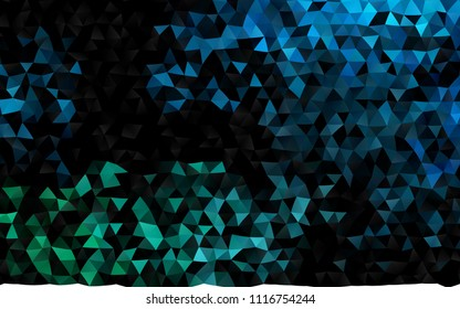 Dark BLUE vector blurry triangle template. A completely new color illustration in a vague style. The elegant pattern can be used as part of a brand book.
