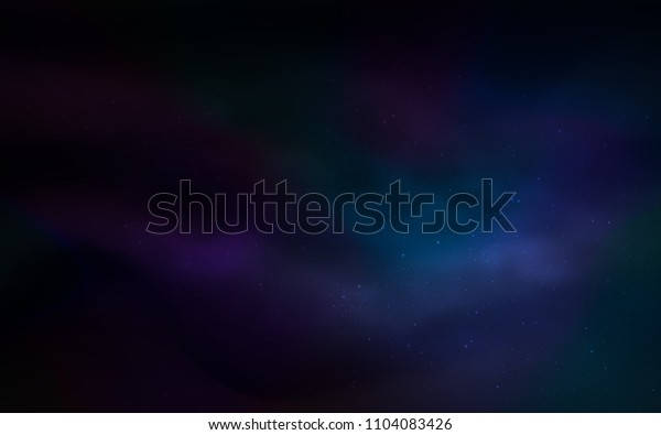 Dark BLUE vector cover with astronomical stars. Modern abstract illustration with Big Dipper stars. Pattern for futuristic ad, booklets.