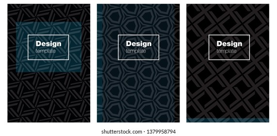 Dark BLUE vector cover for notebooks. Web interface on abstract background with colorful gradient. Pattern notebooks, journals.