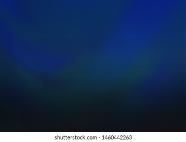 Dark BLUE vector glossy abstract template. Colorful illustration in blurry style with gradient. The background for your creative designs.