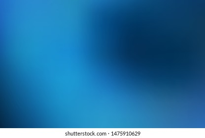 Dark BLUE vector glossy abstract backdrop. Glitter abstract illustration with gradient design. The best blurred design for your business.