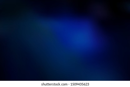 Dark BLUE vector glossy abstract backdrop. Shining colored illustration in smart style. The best blurred design for your business.