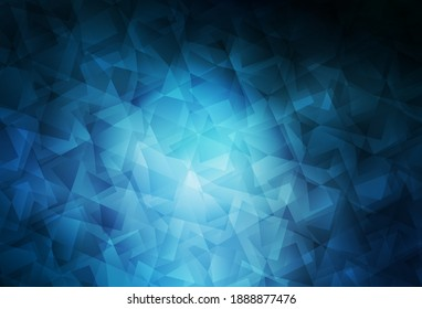 Dark BLUE vector gradient triangles template. Colorful illustration in abstract style with triangles. Best triangular design for your business.