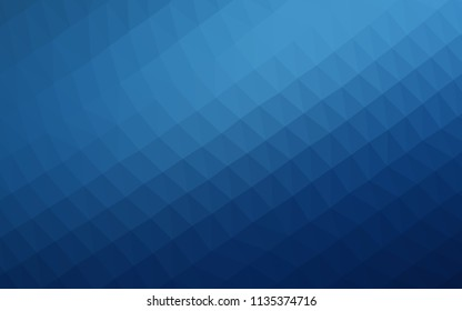 Dark BLUE vector hexagon mosaic texture. A sample with polygonal shapes. A completely new design for your business.