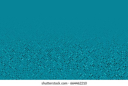 Dark BLUE vector illustration which consist of circles. Dotted gradient design for your business. Creative geometric background in halftone style with colored spots.