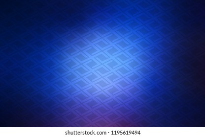 Dark BLUE vector layout with lines, rectangles. Abstract gradient illustration with rectangles. Pattern can be used for websites.