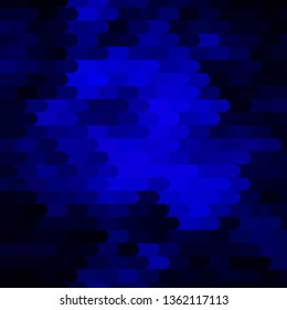 Dark BLUE vector layout with lines. Repeated lines on abstract background with gradient. Smart design for your promotions.