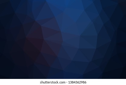 Dark BLUE vector low poly layout. Colorful abstract illustration with gradient. New texture for your design.