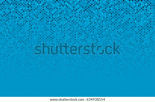 Dark BLUE vector modern geometrical circle abstract background. Dotted texture template. Geometric pattern in halftone style with gradient.