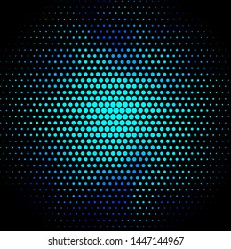 Dark BLUE vector pattern with circles. Glitter abstract illustration with colorful drops. New template for your brand book.