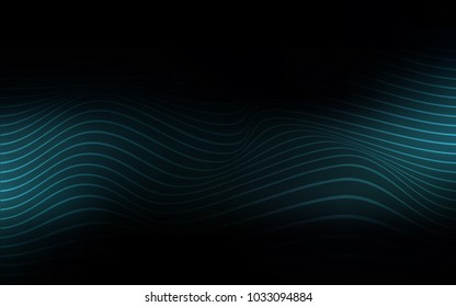 Dark BLUE vector pattern with curved ribbons. A completely new color illustration in a vague style. The template for background of cell phones.