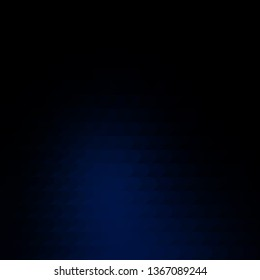Dark BLUE vector pattern with lines. Repeated lines on abstract background with gradient. Template for your UI design.