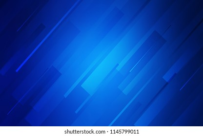 Dark BLUE vector pattern with sharp lines. Decorative shining illustration with lines on abstract template. Smart design for your business advert.