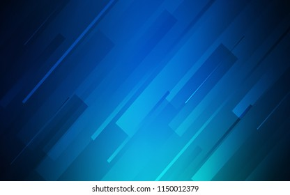 Dark BLUE vector pattern with sharp lines. Decorative shining illustration with lines on abstract template. Template for your beautiful backgrounds.