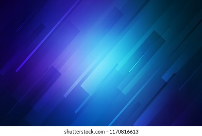 Dark BLUE vector pattern with sharp lines. Glitter abstract illustration with colored sticks. Best design for your ad, poster, banner.