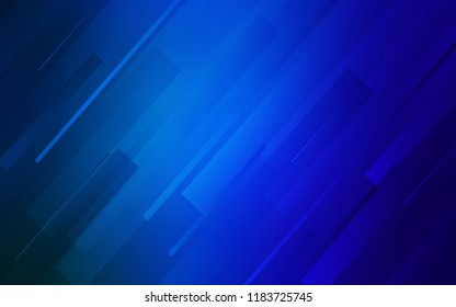 Dark BLUE vector pattern with sharp lines. Modern geometrical abstract illustration with Lines. Pattern for ads, posters, banners.
