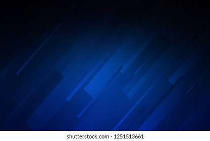 Dark BLUE vector pattern with sharp lines. Lines on blurred abstract background with gradient. Best design for your ad, poster, banner.
