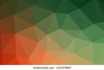 Dark BLUE vector polygon abstract backdrop. Creative illustration in halftone style with triangles. Brand new design for your business.