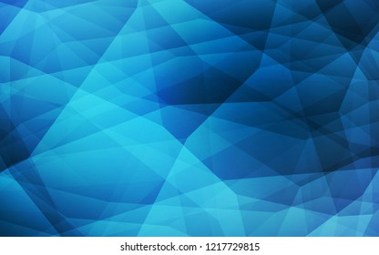 Dark BLUE vector polygon abstract background. A sample with polygonal shapes. Triangular pattern for your design.