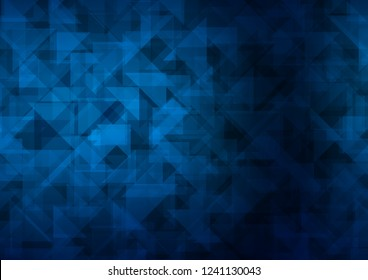 Dark BLUE vector polygon abstract polygon abstract. Modern geometrical abstract illustration with gradient. A new texture for your design.