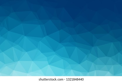 Dark BLUE vector polygon abstract layout. Colorful illustration in Origami style with gradient.  Brand new design for your business.