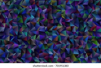 Dark BLUE vector polygon abstract pattern. Colorful illustration in abstract style with gradient. The completely new template can be used for your brand book.