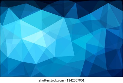DARK BLUE vector polygonal illustration, which consist of triangles. Triangular design for your business. Creative geometric background in Origami style with gradient