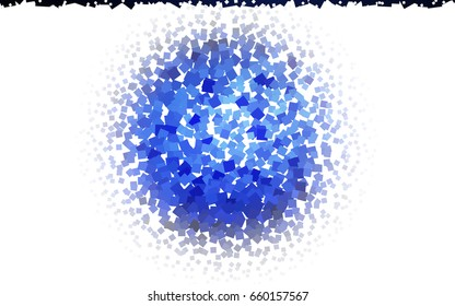 Dark BLUE vector polygonal illustration consisting of rectangles. Rectangular design for your business. Creative geometric background in origami style with gradient.