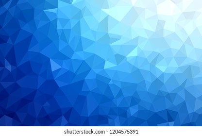 Dark BLUE vector polygonal pattern. Colorful illustration in abstract style with triangles. Pattern for a brand book's backdrop.