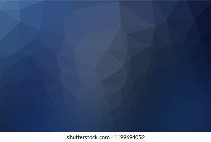 Dark BLUE vector polygonal template. Creative geometric illustration in Origami style with gradient. Brand new style for your business design.