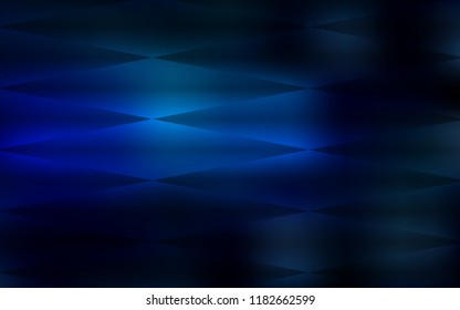 Dark BLUE vector seamless layout with lines, rectangles. Modern abstract illustration with colorful rectangles. Pattern for trendy fabric, wallpapers.