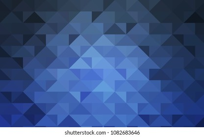 Dark BLUE vector shining triangular pattern. A completely new color illustration in a vague style. The elegant pattern can be used as part of a brand book.