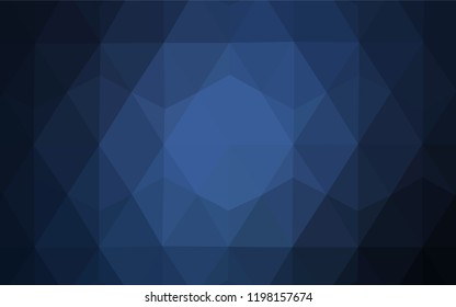 Dark BLUE vector shining triangular layout. Shining colorful illustration with triangles. Brand new style for your business design.
