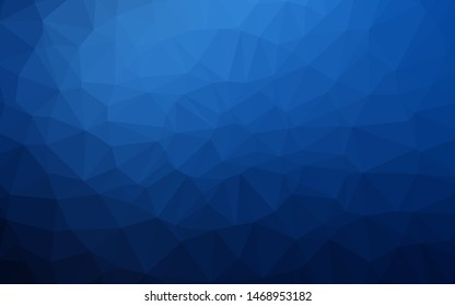 Dark BLUE vector shining triangular background. An elegant bright illustration with gradient. Brand new style for your business design.