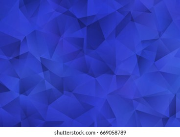Dark BLUE vector shining triangular pattern. Modern geometrical abstract illustration with gradient. Brand-new style for your business design.