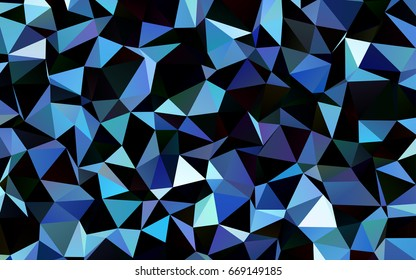 Dark BLUE vector shining triangular template. Colorful abstract illustration with gradient. The completely new template can be used for your brand book.