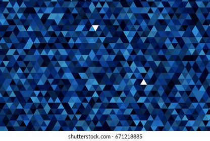 Dark BLUE vector shining triangular pattern. Brand-new colored illustration in blurry style with gradient. A new texture for your design.