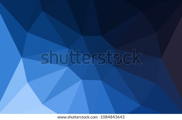 Dark BLUE vector shining triangular cover with a gem in a centre. A sample with polygonal shapes. Brand new style for your business design.